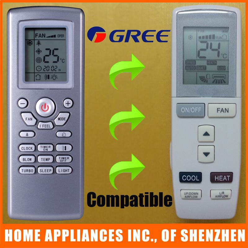 Wholesale- GREE Universal Air Conditioner Remote Control YAD1F Compatible  For YT1F YT1FF YB1F2 YB1F2F YB1FA YB1FAF YAD1FF YX1F YX1FF YX1F2