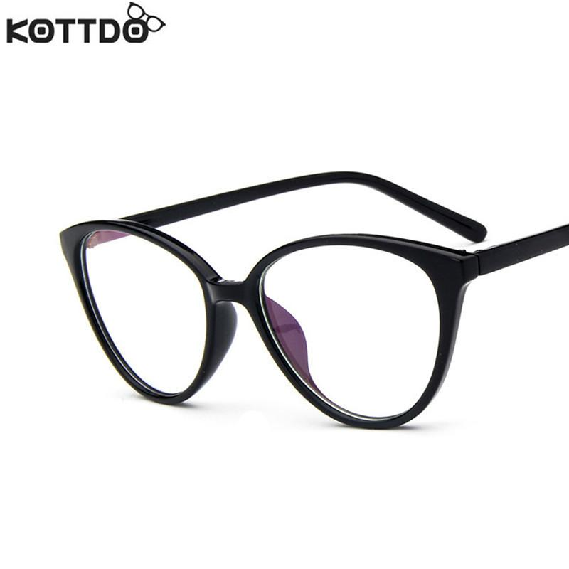 2018 Wholesale Kottdo Retro Classic Cat Eye Glasses Women Men ...
