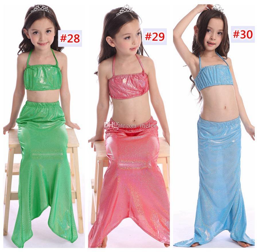 الفتيات حورية الذيل بيكيني بدلة أطفال اعتصامات swimmable mermaid المايوه السباحة زي المايوه 30 تصاميم اختيار الشحن فيديكس ups