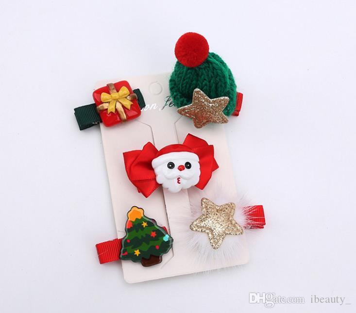 Neue Mode Weihnachten Haarspangen für Mädchen Santa Claus Weihnachten Haarnadeln Haarspangen Geschenke für Kinder Kinder Haarschmuck