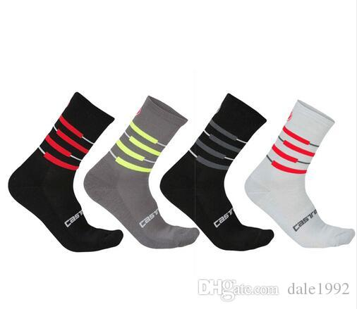 New Unisex Top Quality Cycling Socks Men Sports Mountain Bike Socks Stripe High Elasticity Outdoor Road Bicycle Breathable Socks