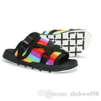 2017 venta caliente Fringe Hombres mujeres Zapatillas de Lona Zapatos de Verano Masculinos Diapositivas Zapatillas de playa antideslizantes Sandalias