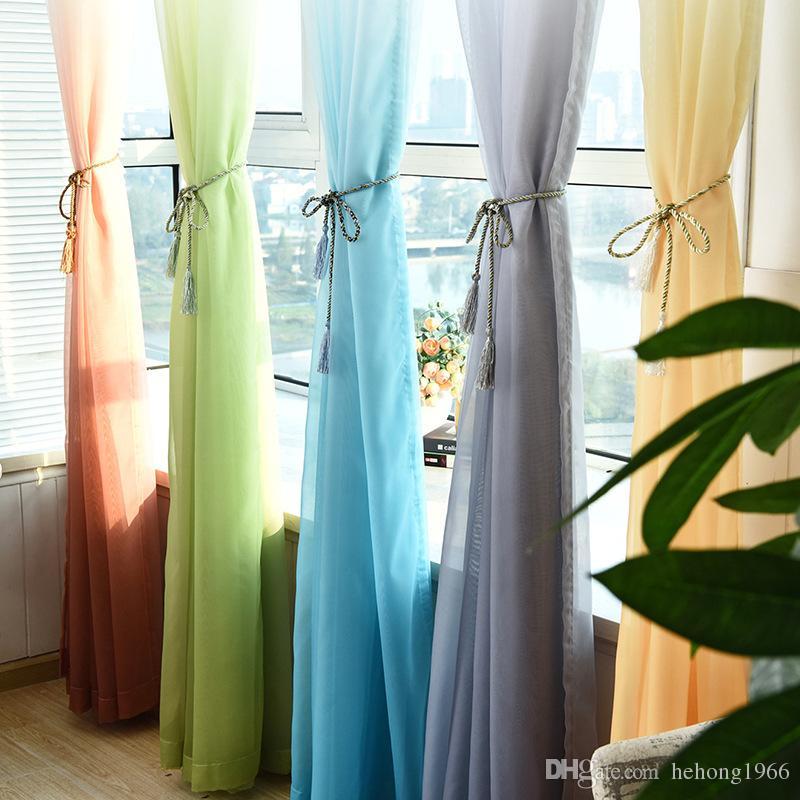 Compre Tulle Cortinas Decoraciones Ventana Sala Divider Cortina De - Cortinas-y-decoraciones