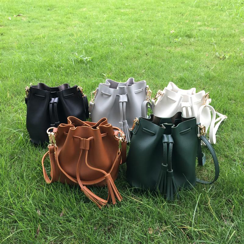 02d872126 2019 DOMIL Blank Wholesale Women Tassel Drawstring Bucket Bag Faux Leather  Bucket Crossbady Bag Drawstring Handbag DOM556 From Domil_blanksmall, ...