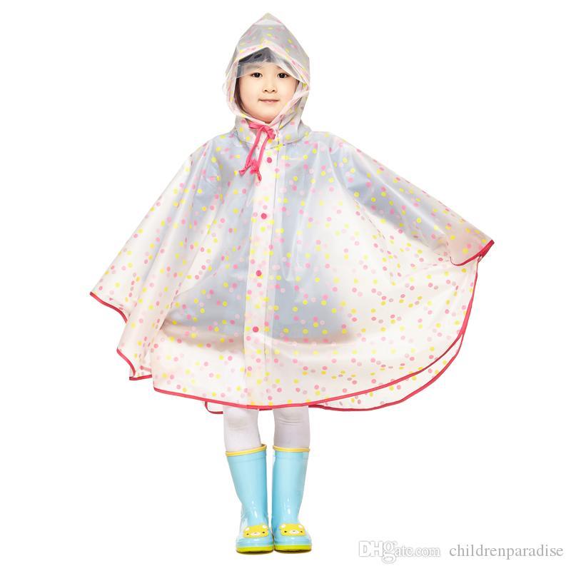 acheter populaire b7bea ece1d Acheter Imperméable Enfants Imperméable En Plastique Transparent EVA Pluie  Manteau Imperméable Enfants Vêtements De Pluie Pluie Poncho De $15.23 Du ...
