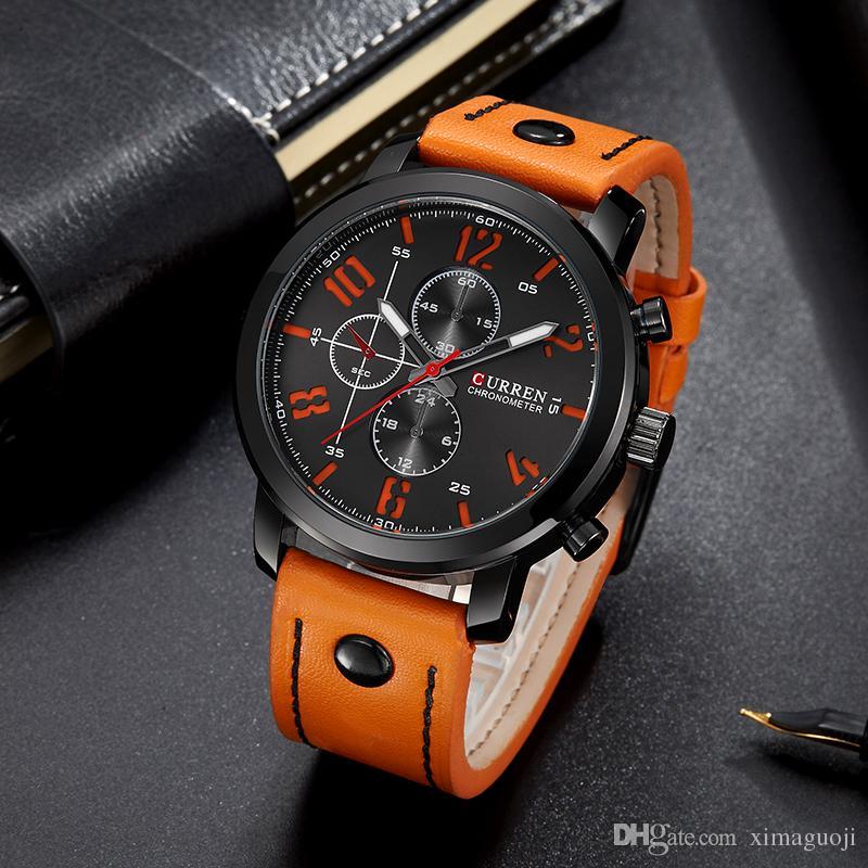 de0cd3f7b3e Compre Curren Lazer Homens De Luxo De Luxo Shi Ying Simulação Recruta Homens  Relógio Impermeável Máquinas Esportivas Relógio À Prova D  água De  Ximaguoji