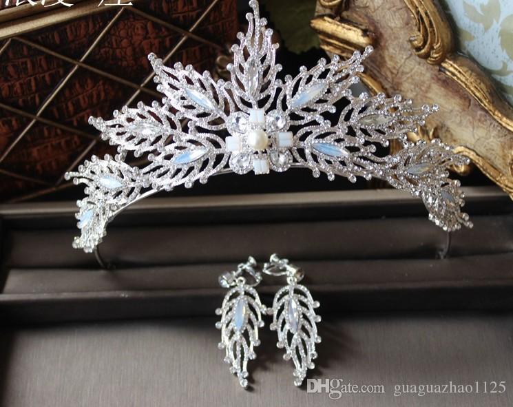 Los nuevos pendientes de la corona 2017 se adaptan a la princesa de cristal de la joyería de la boda de la novia Europa y la cabeza de diamante de los Estados Unidos
