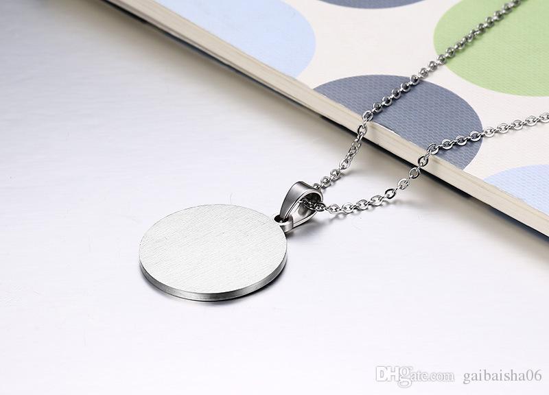 Fashion Women Men Rainbow Necklaces& Pendants Jewelry Tai Chi Bagua Design Stainless Steel Pendants PPN-027