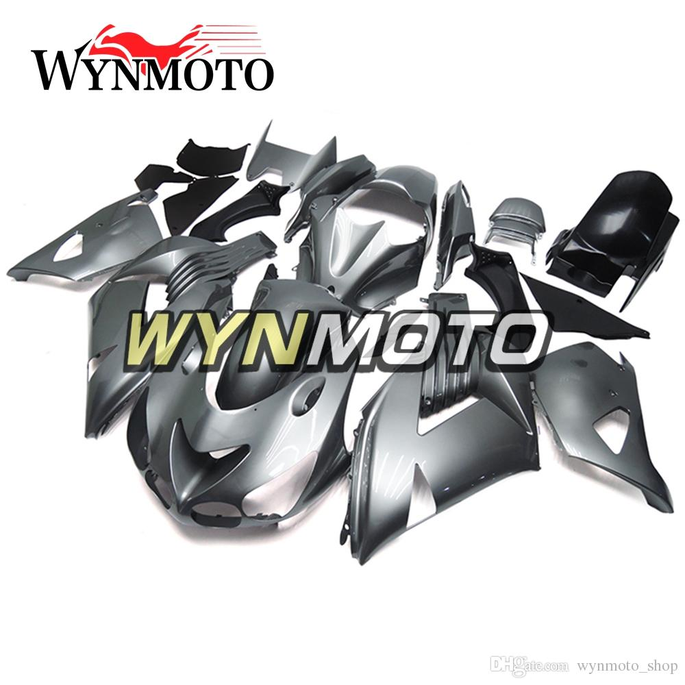 Full Fairings For Kawasaki ZX14R ZZ R1400 2006 - 2011 ABS Plastics Injection Hulls Motorcycle Fairing Kit Bodywork Cowlings Silver Panels