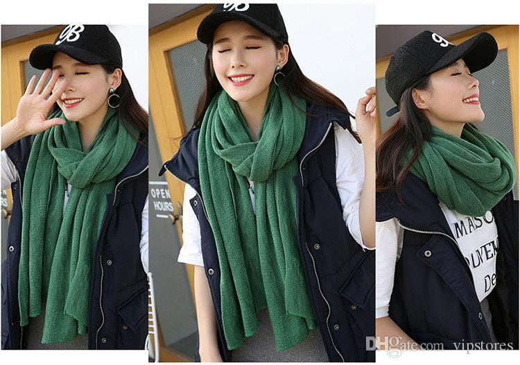 New Wool winter cashmere scarf warm Knitted couple Scarves wraps unisex wool scarf shawls for ladies and men wholesale Pashmina for women