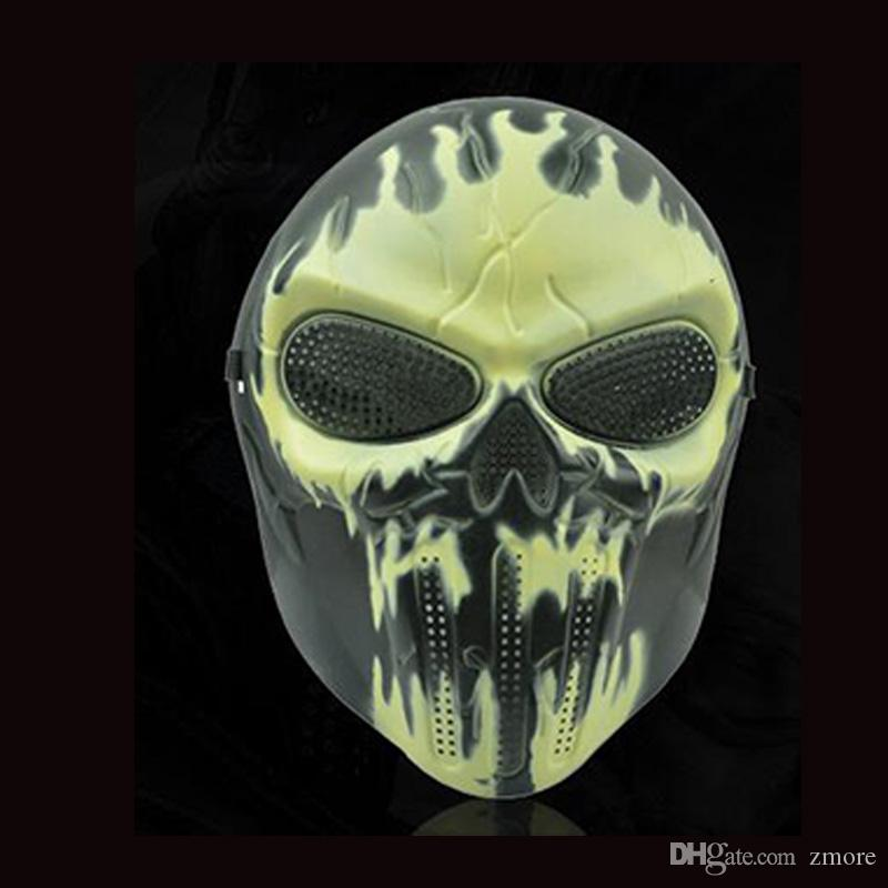 Halloween Masks M06 Zombie Skull Mask Personalized CS Full Face Skeleton WarriorGame Mask Scary Ghost Mask for Hall