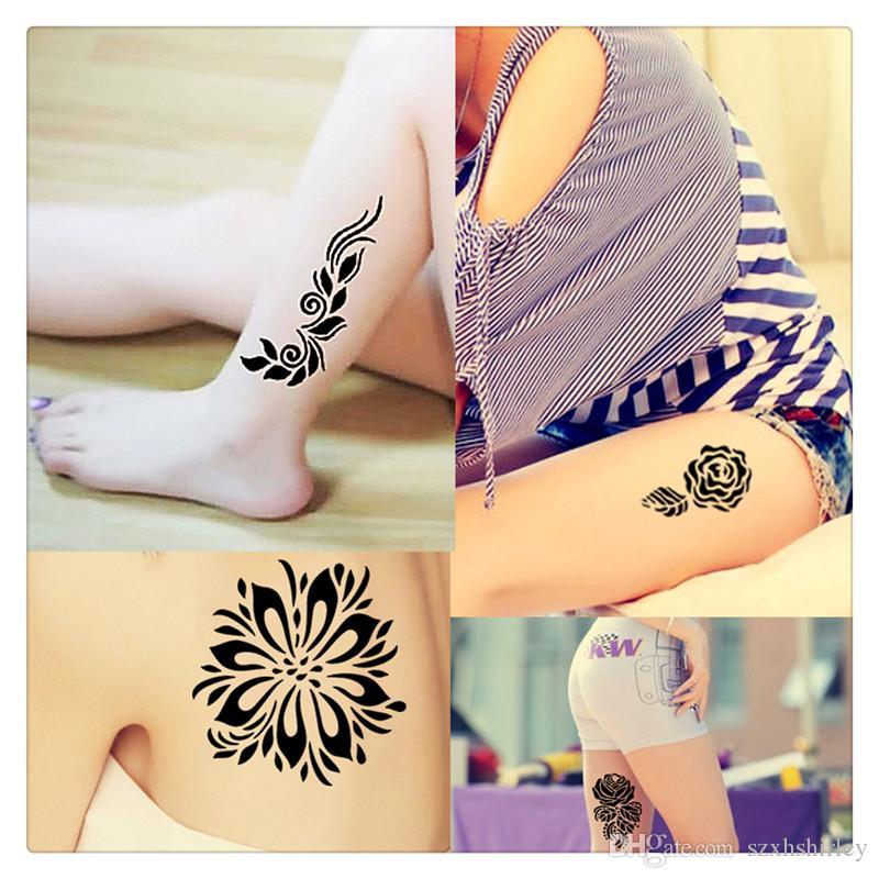 Henna Tattoo That Lasts 6 Months: Hot Tattoos Body Art Natural Henna Tattoo Art Paste