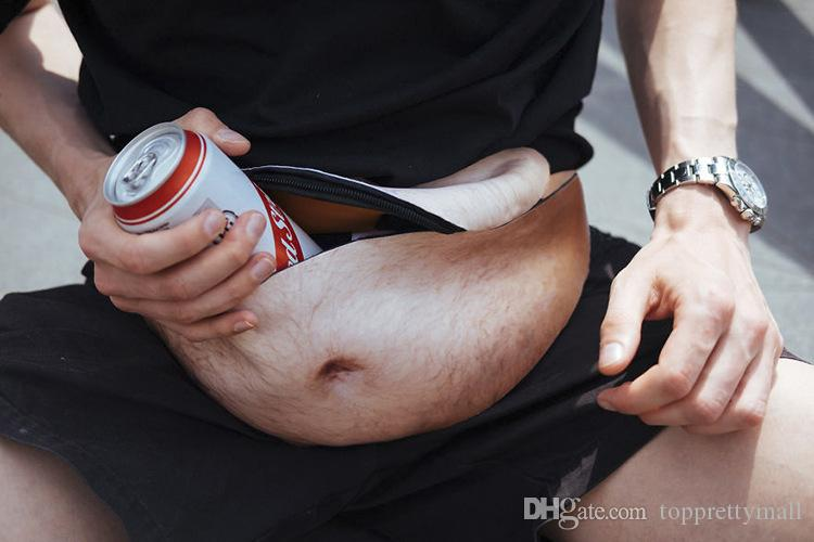 Dad Bag Funny Pack Your Dreams Dadbag Beer Belly Dad Bod Case Universal Flesh Colored Beer Fat Outdoor Pockets