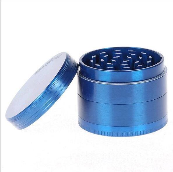 4 Schichten 55mm Kraut-Schleifer Sharpstone-Schleifer-Legierungs-Metalltabak-Schleifer Scharfe Stein-Schleifer-große Schleifer 6 färben rauchendes Zubehör