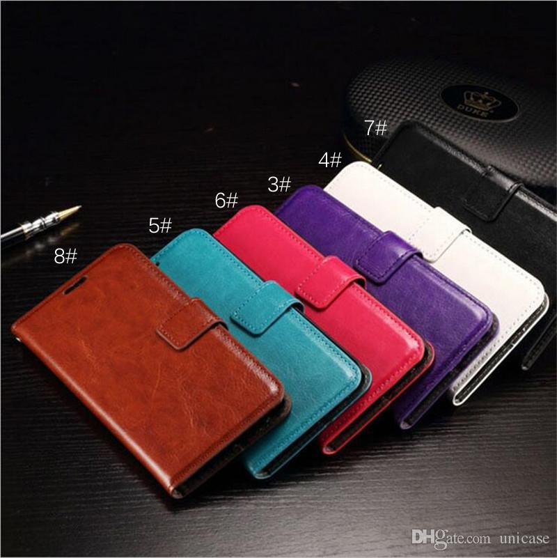 PU Leather Wallet Cell Phone Stand Flip Case Cover For Iphone 7 7plus 6/6s Samsung S6 S6edge S7 DHL Shipping