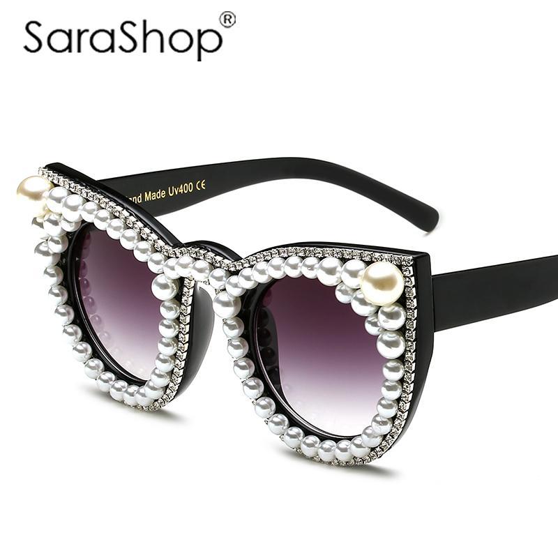 34803339f914 Wholesale SARA SHOP Brand Designer Sunglasses Woman Oversized Cat Eye  Sunglasses Women Fashion Lunette De Soleil Vintage Men Oculos A660  Prescription ...