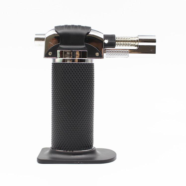 hot on sale Butane Scorch Torch Jet Flame Lighter Kitchen Torch Lighter Metal Dab creme brulee Windproof Refillable Butane GAS DHL FREE