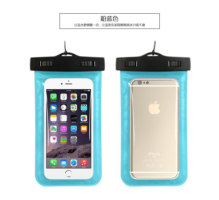 Custodia impermeabile iPhone 5 5s 6 6P Samsung Galaxy Custodia subacquea da viaggio subacquea