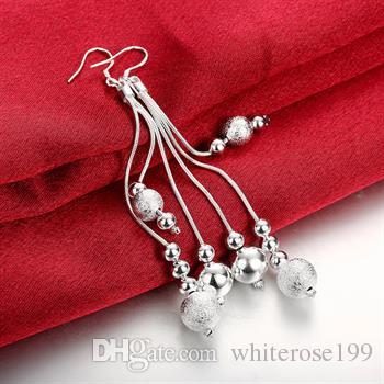 Hurtownie - Najniższa cena Christmas Gift 925 Sterling Silver Fashion Earrings E06