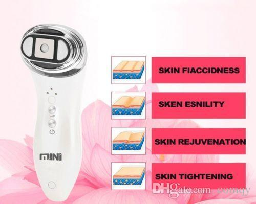 Portable Mini HIFU Ultrasound Facial Skin Care Machine home use Hifu Face Lift RF Skin Rejuvenation Machine