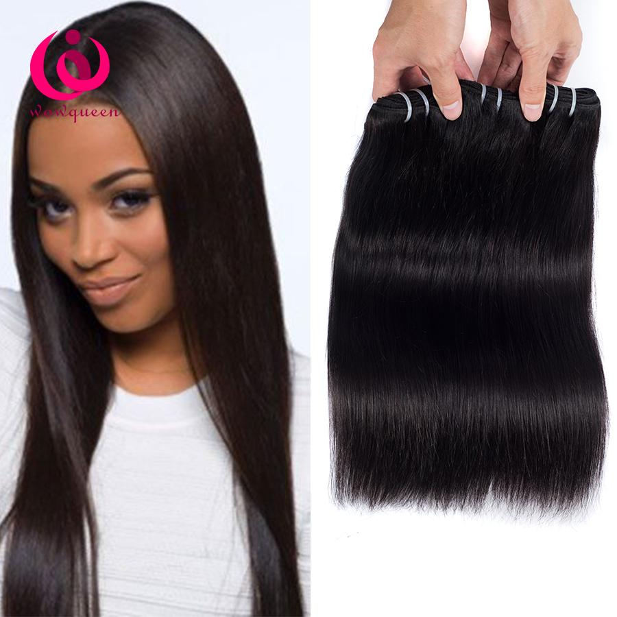 mongolian virgin human hair straight weave bundles 8-28inch wow queen  products soft and thick no tangle no shedding mongolian hair extension