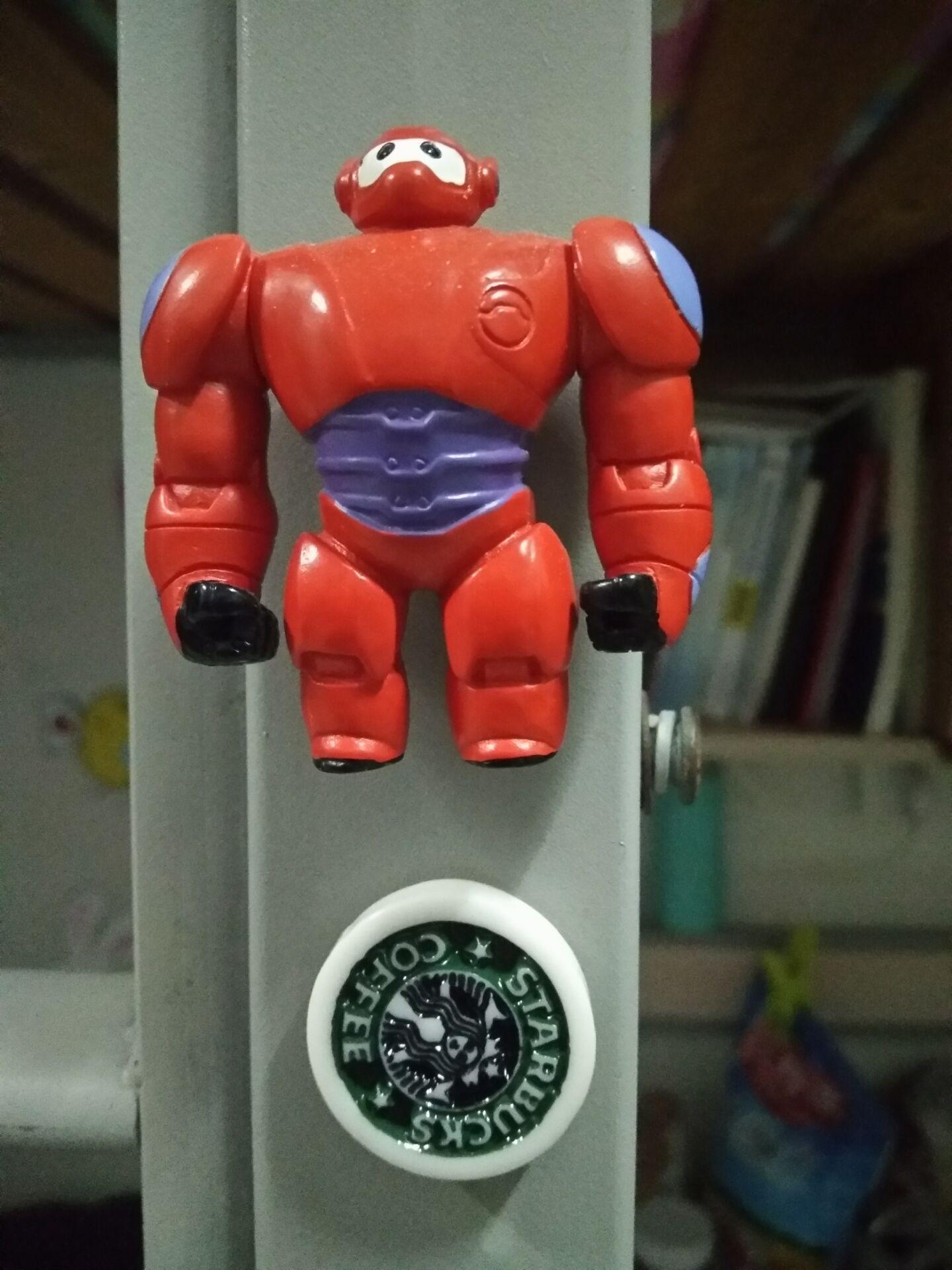 armor baymax ornament refrigerator magnet cute cortoon message