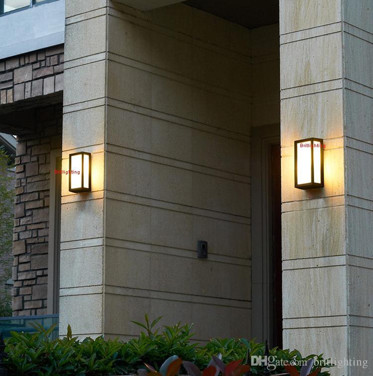 Duvar Aplik Açık Aydınlatma Duvar Lambaları Su Geçirmez Dış Açık Aydınlatma Açık Duvar Lambası Bahçe LED Aydınlatma