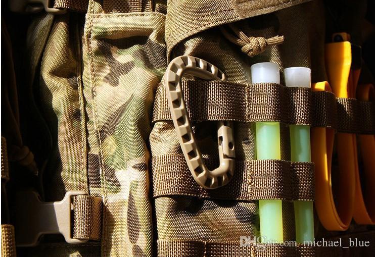 En plastique en plastique mousqueton Climb fermoir clip crochet cintre Quickdraw attacher camp de montagne boucle randonnée Hang Outdoor Bushcraft survie outil