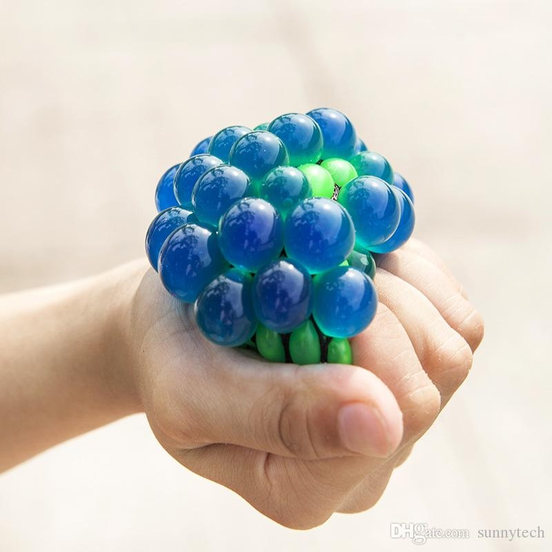 Hot Sale Cute Anti Stress Face Reliever Grape Ball Autism Mood Squeeze Relief Healthy Kids Toy Funny Geek Jokes Gadget Vent Toys ZA1431