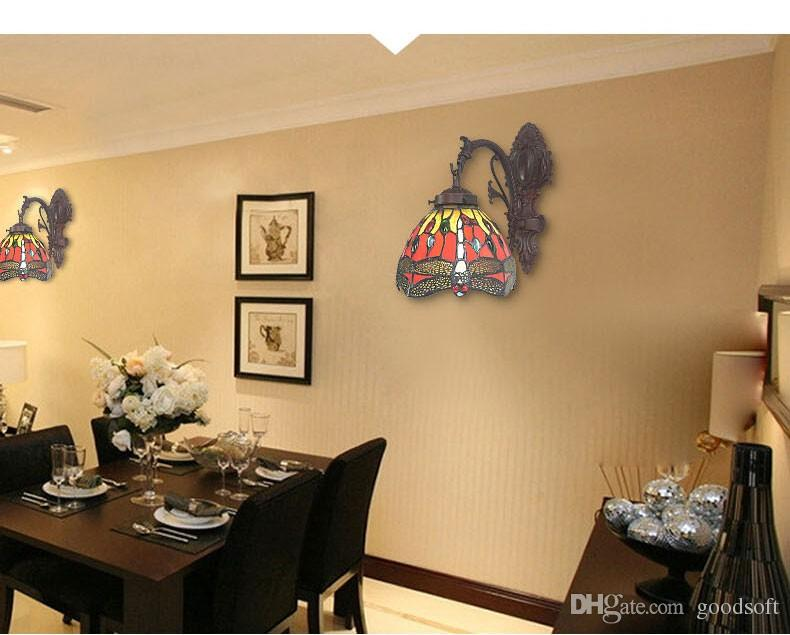 Acheter libellule lampe murale européenne tiffany applique