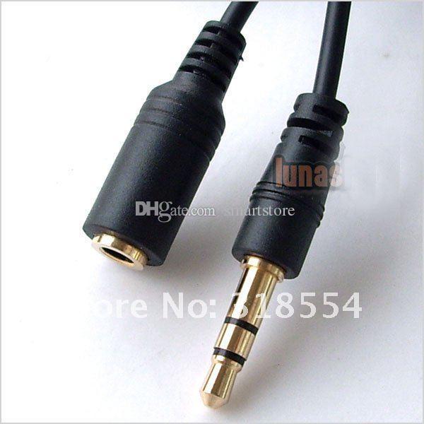 / # 3,5 millimetri 1M maschio a femmina Cavo di prolunga audio esteso del suono stereo di trasporto 0001