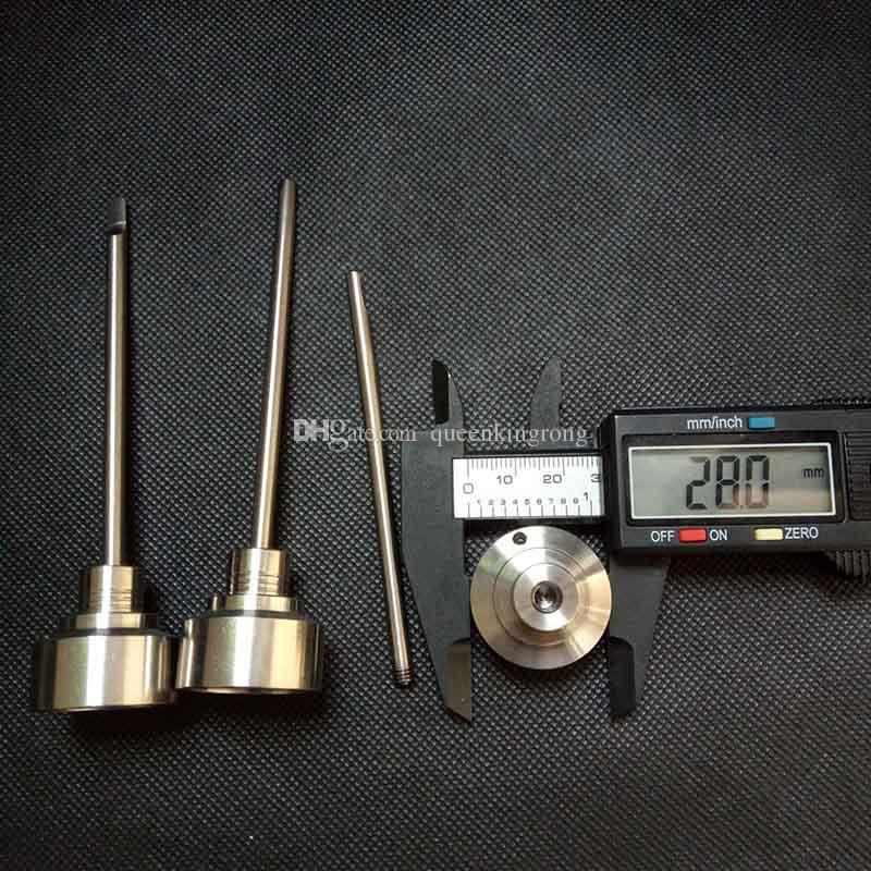 XXL 티타늄 탄수화물 캡 25mm28mm OD 도리스 티타늄 Gr 팁 2 팁 TI는 금연 파이프에 대한 석영 세라믹 네일 유리 bongs 석유 장비