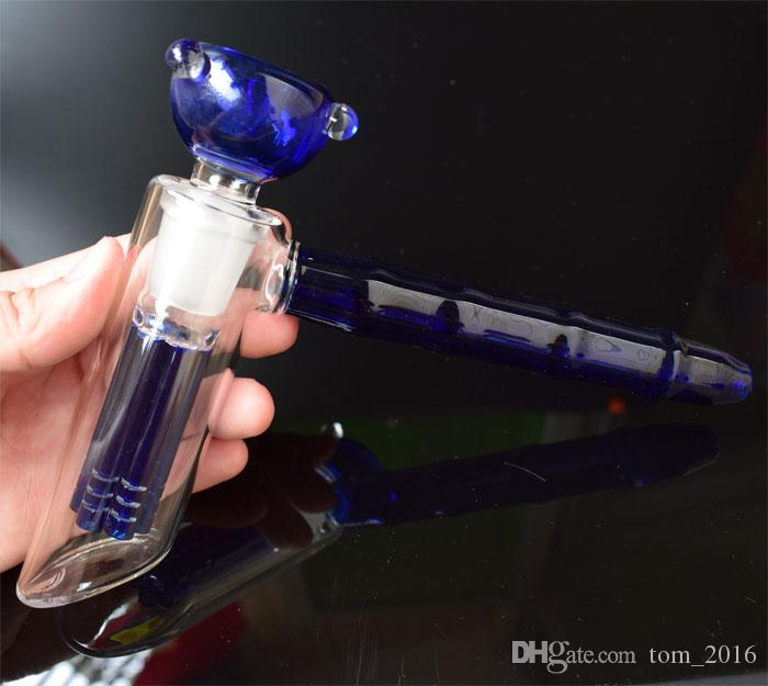 5 Models Glass Hammer 6 Arm Tree Perc Bubblers Water Pipes Glass Smoking Pipes Durable Oil Burner Glass Pipe,Free DHL