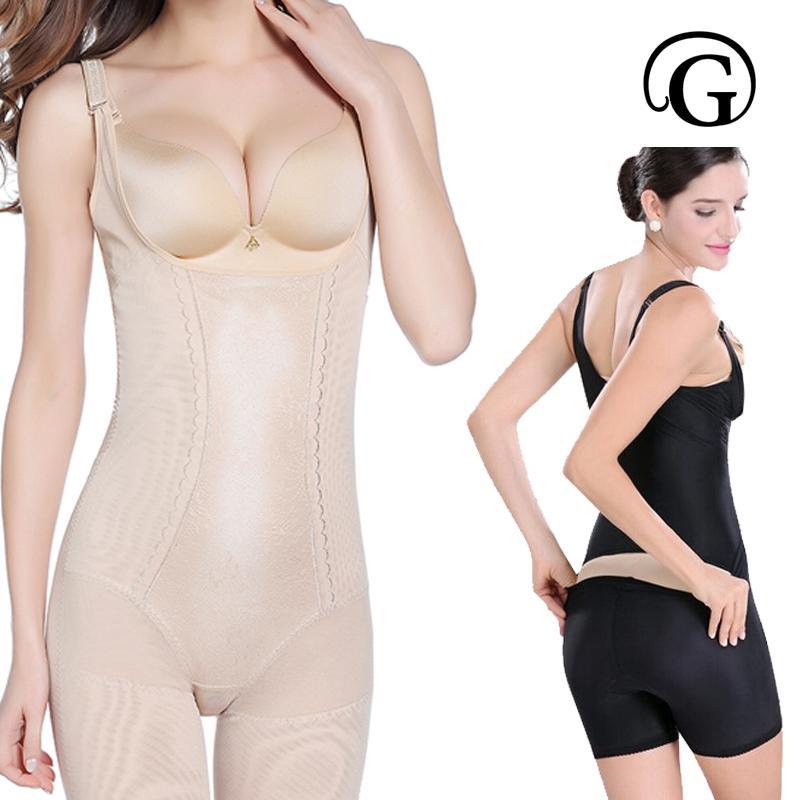 de7a20132a1f8 Wholesale- PRAYGER Plus 5XL Women Slimming Building Slip BodySuits  Underbust Lift Bra Shapewear Firm Tummy Control Thigh Full Body Shaper  Tummy Control ...