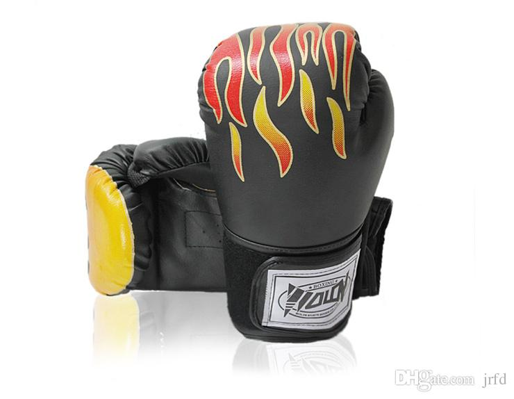 Flame Boxing Gloves One Pair Breathable PU Leather for Adult Productive Gear Assist Boxing and Sana Practice Fashion and Comfortable Gloves