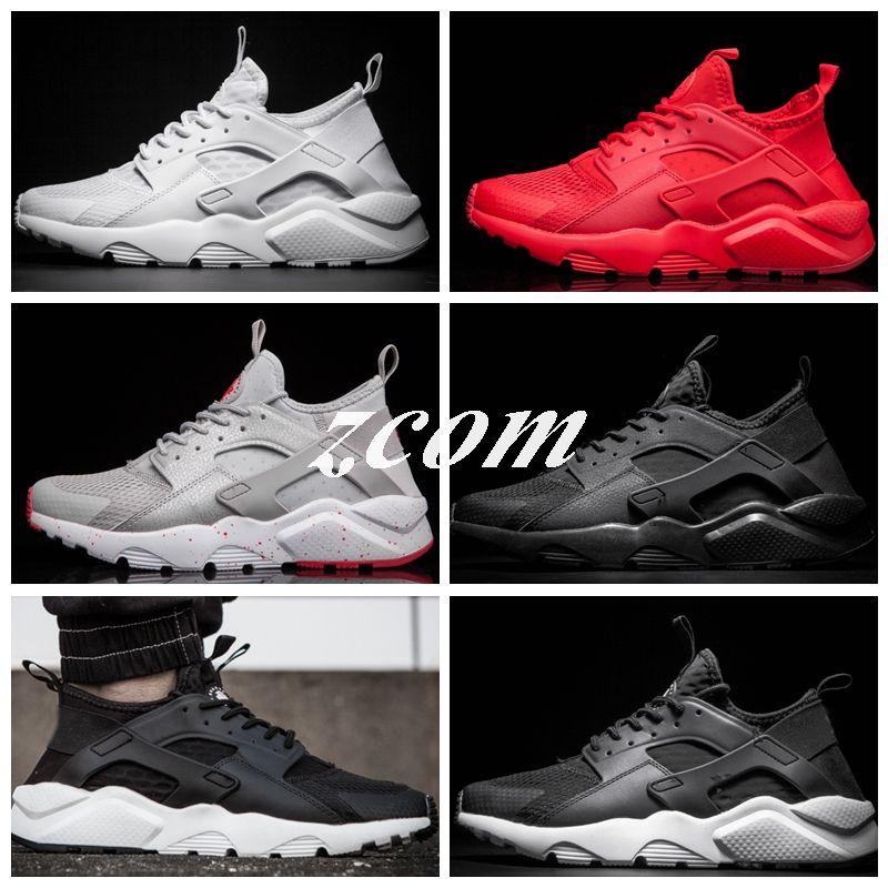 0af40e5aef07 2018 New Design Air Huarache 4 IV Running Shoes All Red Women Men ...