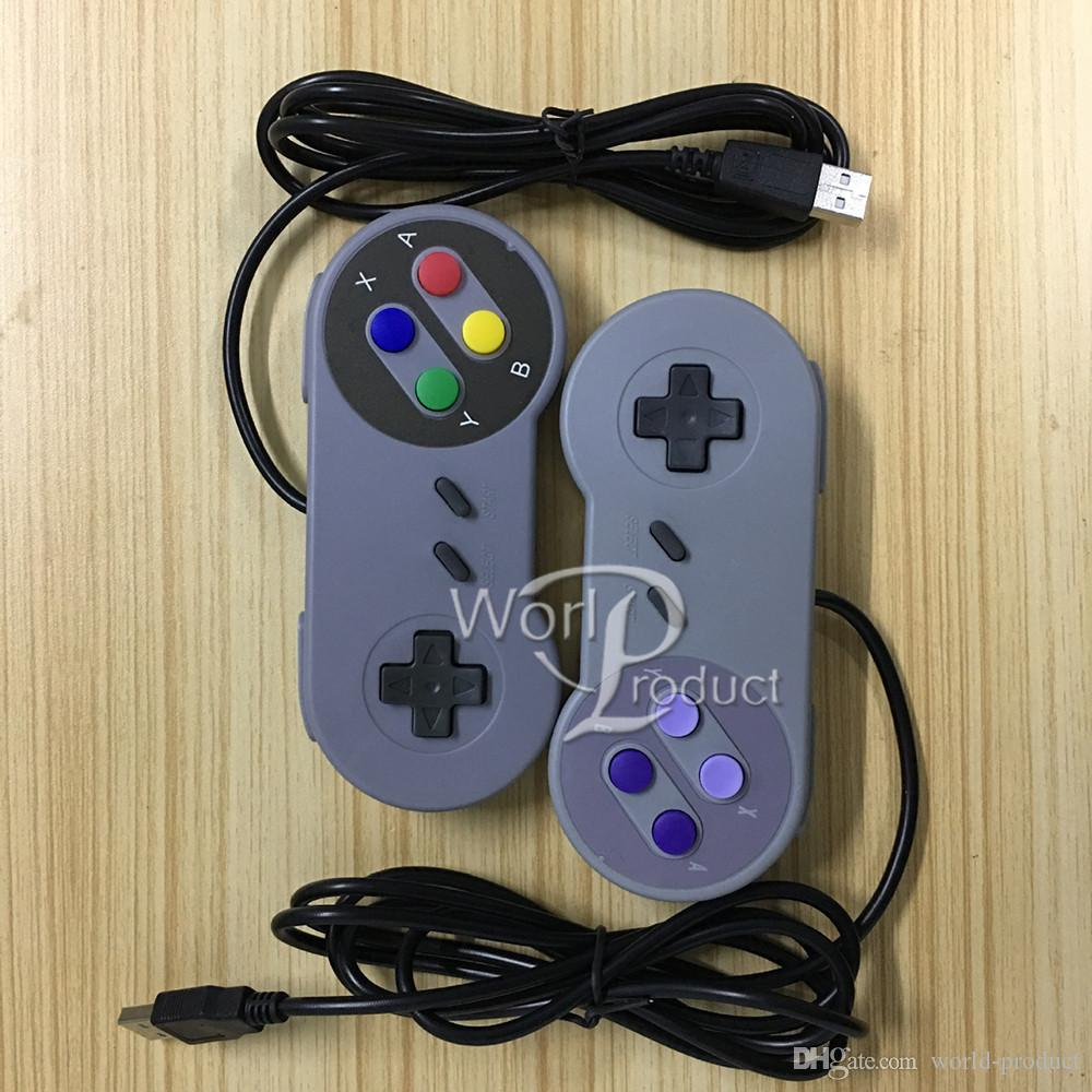 Classic USB Controller PC Controllers Gamepad Joypad Joystick Replacement for Super Nintendo SF for SNES NES Tablet PC