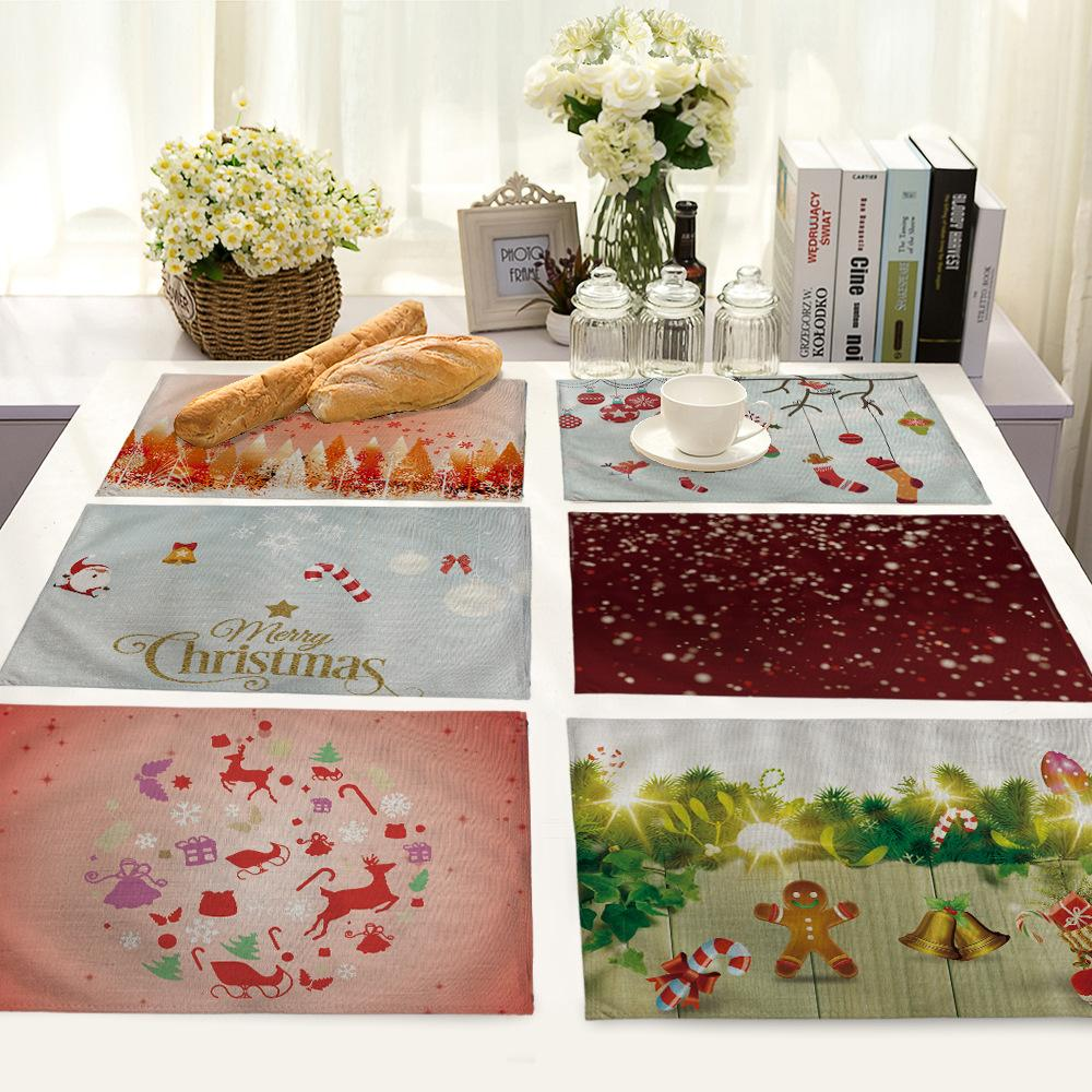 2018 17 Designs Xmas Square Placemats Table Mats For Dining Table Simple  Place Mat Christmas Table Decorations For Home From Shinelily, $4.58 |  Dhgate.Com