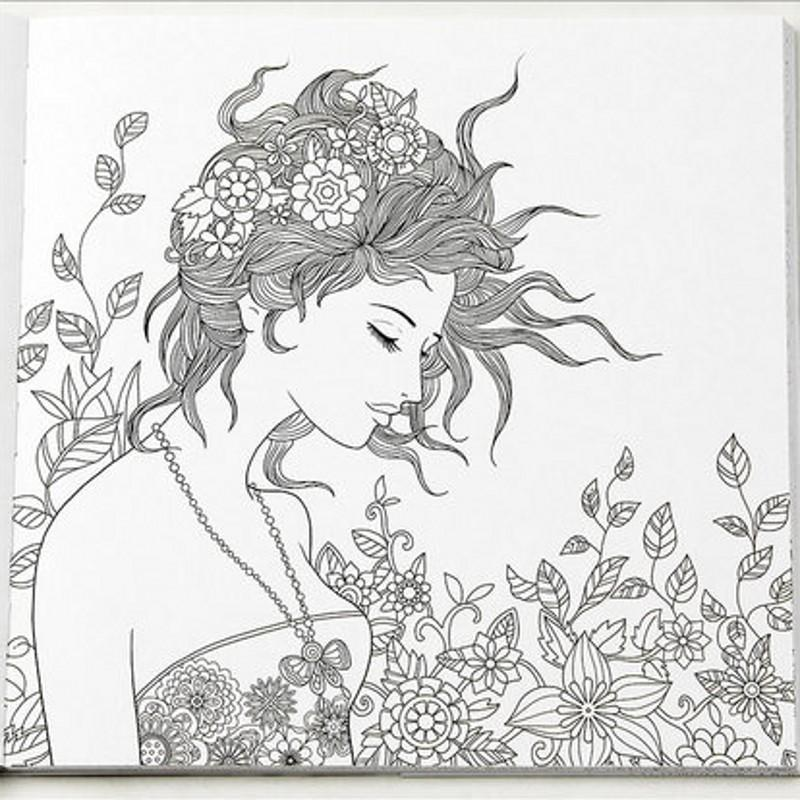 96 Pages Floating Lace Adults Colouring Book Secret Garden Art Coloring Books Antistress Painting Drawing Large Color From