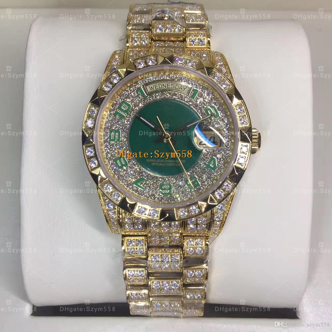 Luxury Watch Diamond Watch High Quality ETA 2836 Automatic Movement Men's Waterproof 36MM Iced Out Watch 316 Stainless Steel CZ Diamond