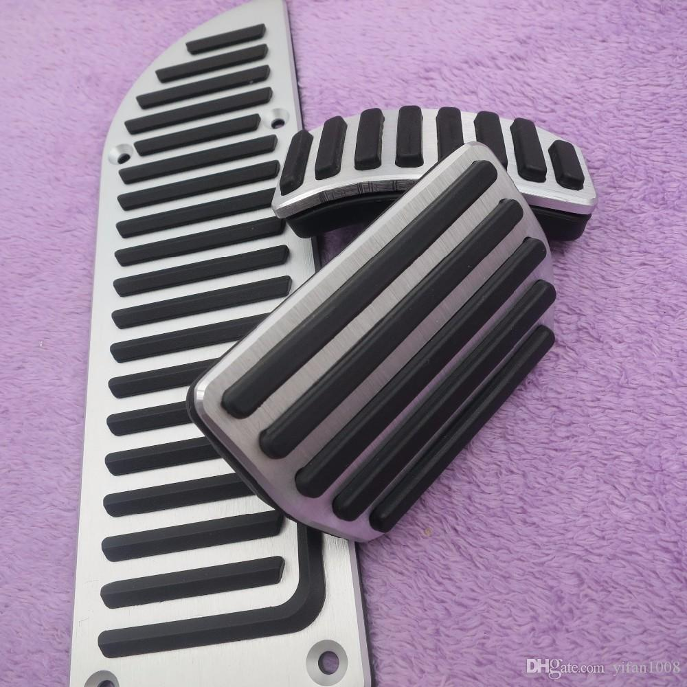 Aluminium Car Accessories for VOLVO S60 S80L XC60 S60L V60 XC70 V70 AT Accelerator Gas Brake Foot rest Pedal Pads,Styling Plate