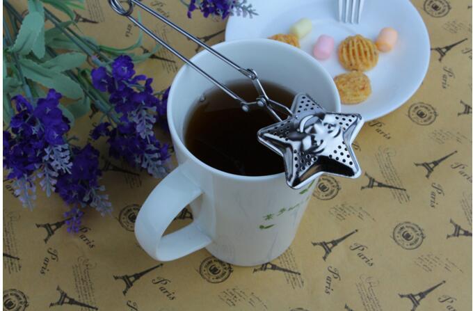 Lange Griff Tee-ei Edelstahl Tee Ball Teekanne 16,7 Lange Filter Siebkugel für Loose Leaf Tee Marke Neue Sternform