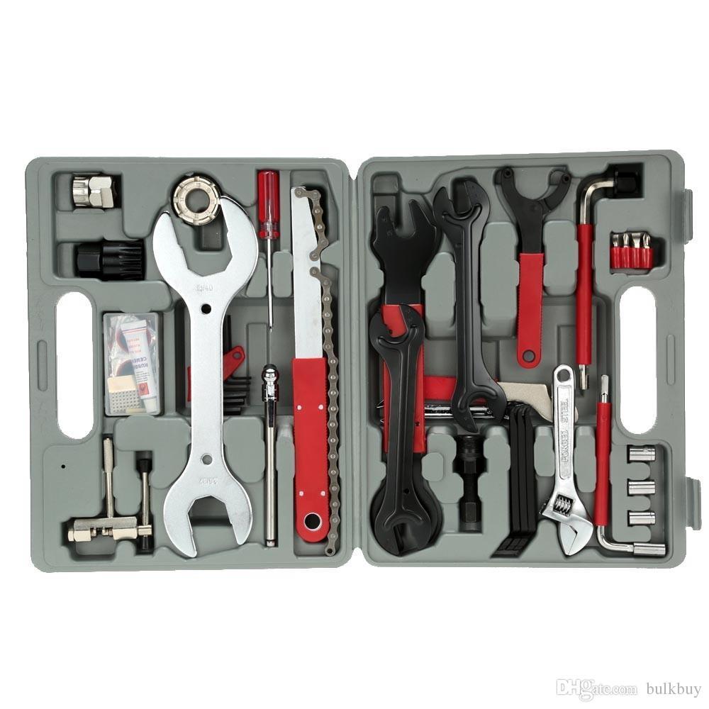 FZ044 44 en 1 Herramienta de reparación de múltiples funciones de reparación de bicicletas Herramientas de reparación de bicicletas de montaña Juego de herramientas al por mayor