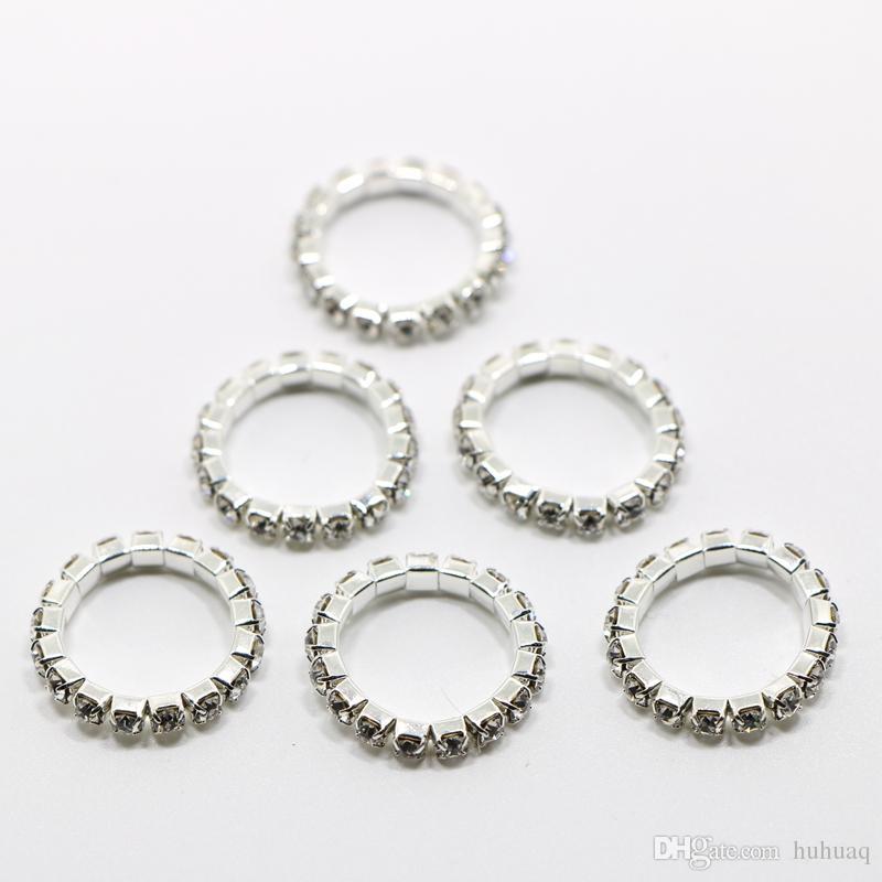 Kristallrhinestone-Goldfinger-Ringe für Frauen-justierbare Ausdehnungsfuß-Zehe-Ringe stellten den frei versendenden Großhandelshochzeitsring ein