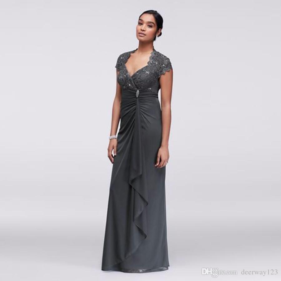 Gathered Jersey Dress With Scalloped Lace Bodice A18436 Prom Dress ...