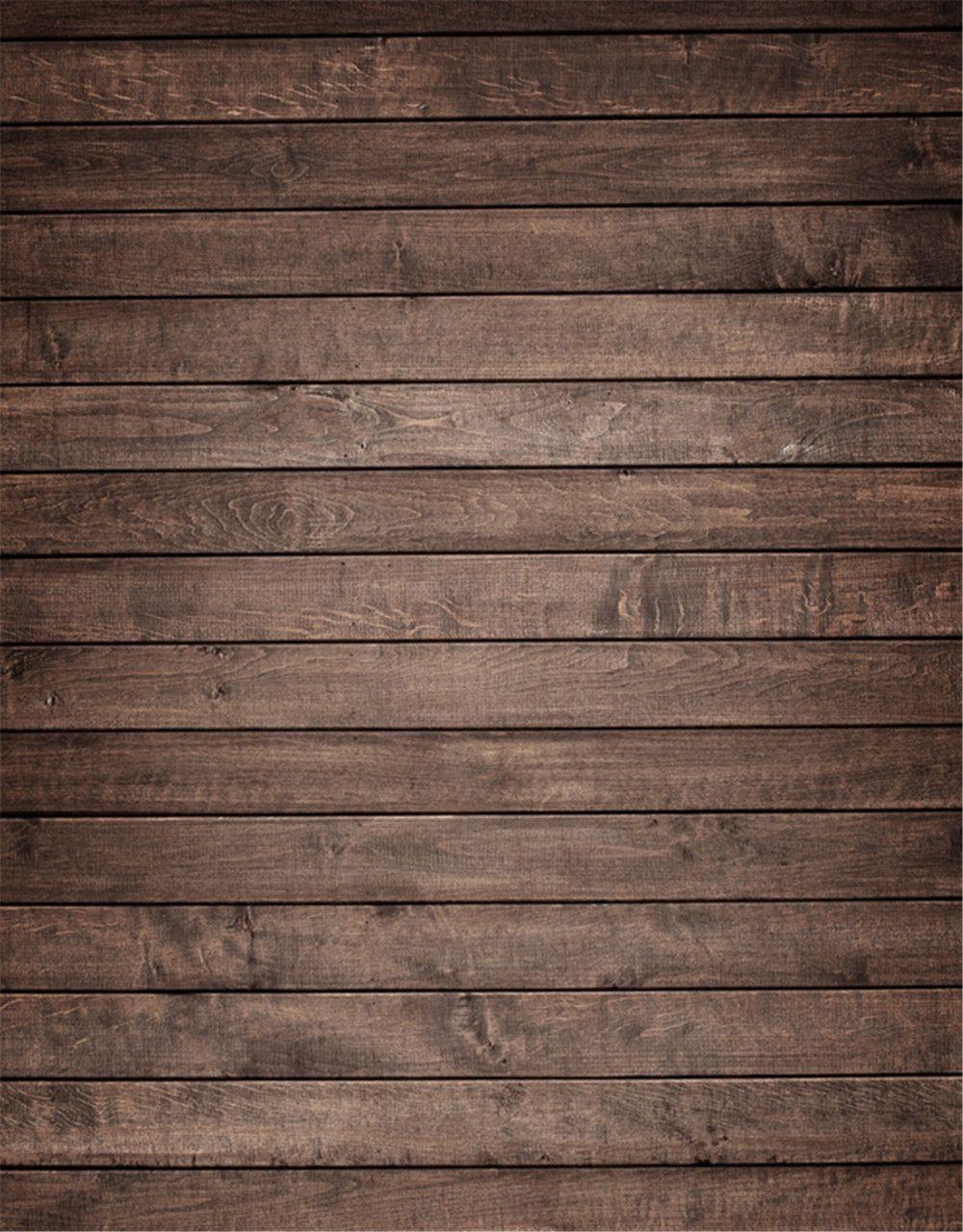 Wooden Plank Background ~ Vintage dark brown wood planks vinyl backdrops for