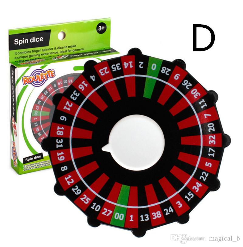 Fortune Wheel Roulette Fidget Spinner Lucky Wheel Spinners Spinning Turntable Hand Spinner Anti-anxiety Stress Relief EDC Decompression Toys