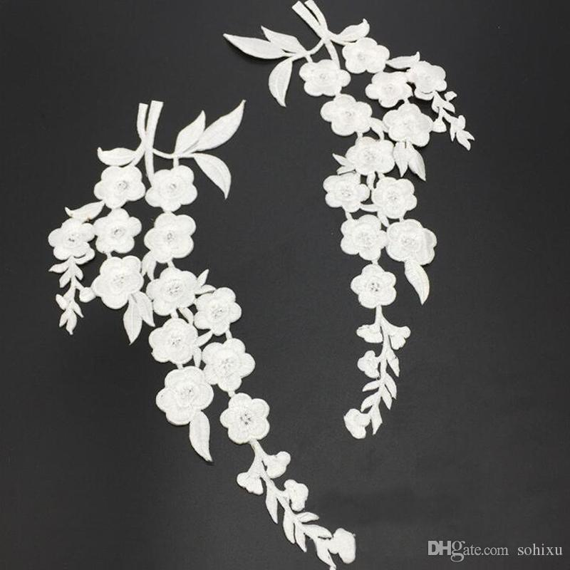 2018 white plum flower sticker patch for clothing patches parches 2018 white plum flower sticker patch for clothing patches parches embroidered cheongsam jacket wedding dress fabric patchwork appliques diy from sohixu mightylinksfo