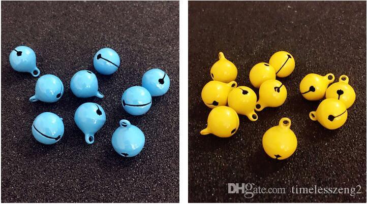 Weihnachtsglocken Durchmesser 1,5 cm matt polnischen Doppelfarbe hell Lack kleine Glocken DIY Cartoon Schmuck Glocken Zubehör