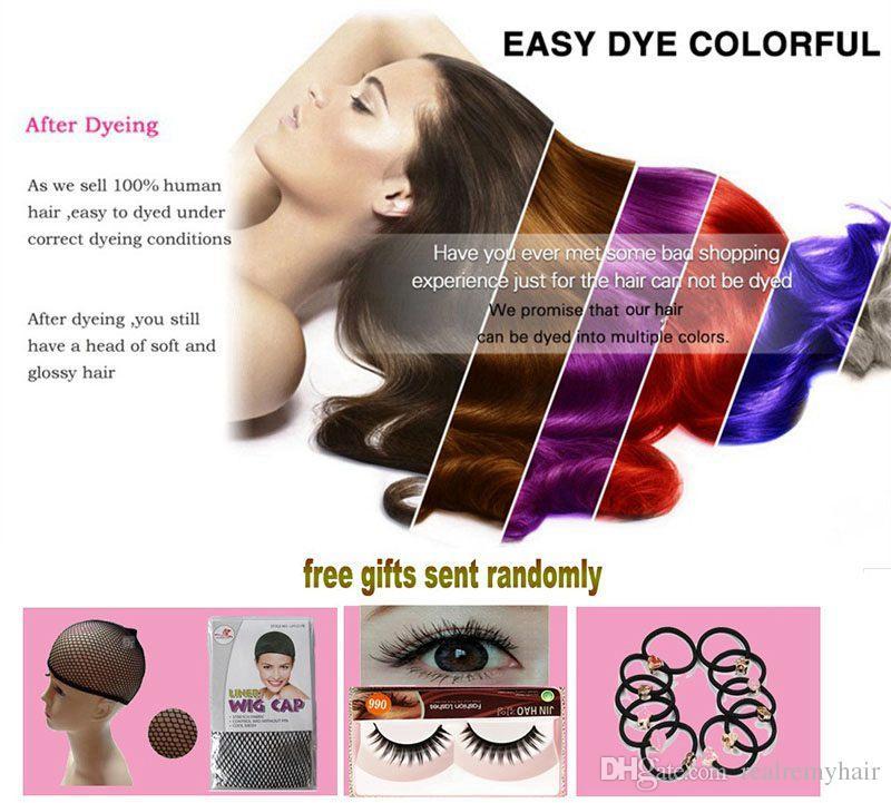 PASSION Ombre Hair Products 1B / 30 Trame di capelli umani brasiliani di Remy 3 fasci Colore bicolore peruviano Malese Estensioni dei capelli umani